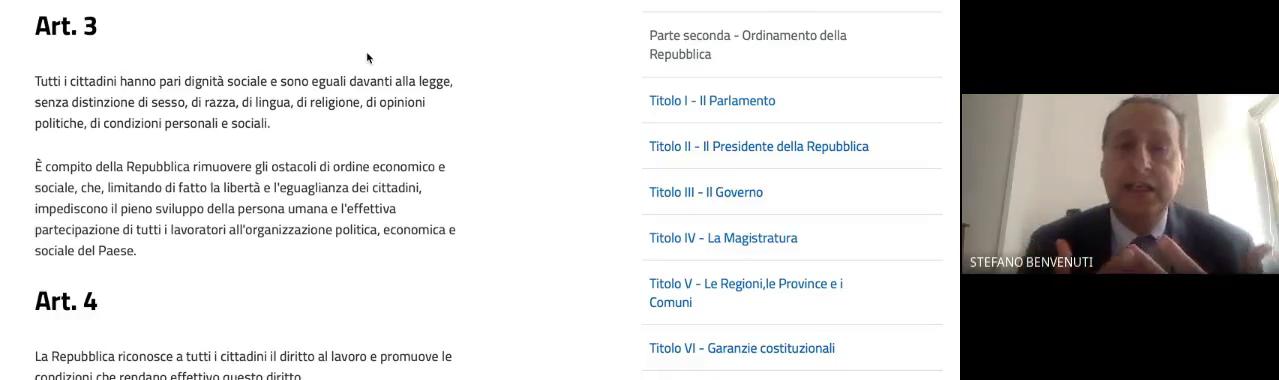 """Orientamento universitario per le quinte e """"cittadinanza e costituzione"""""""